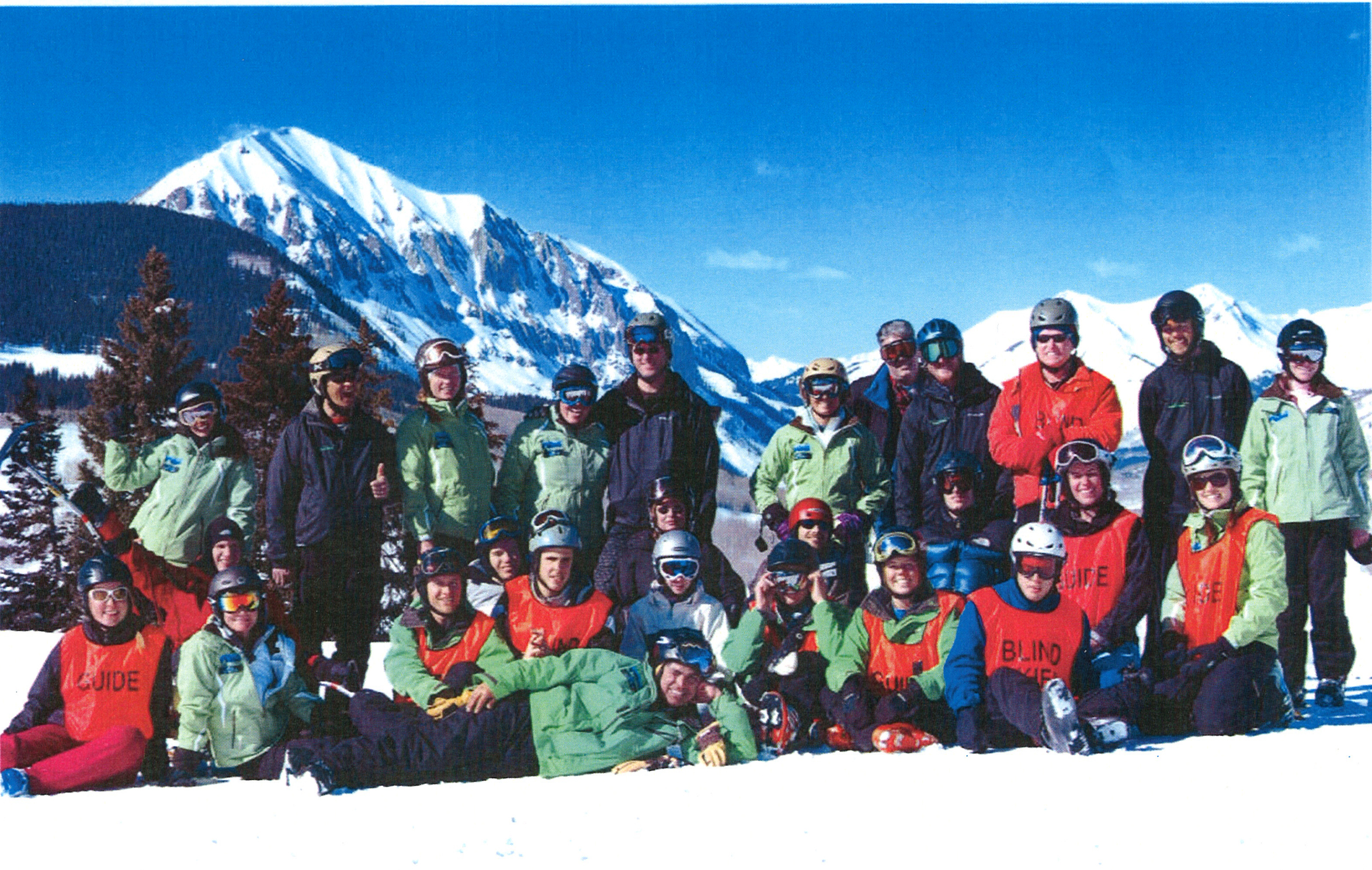 student ski group in Crested Butte, Colorado